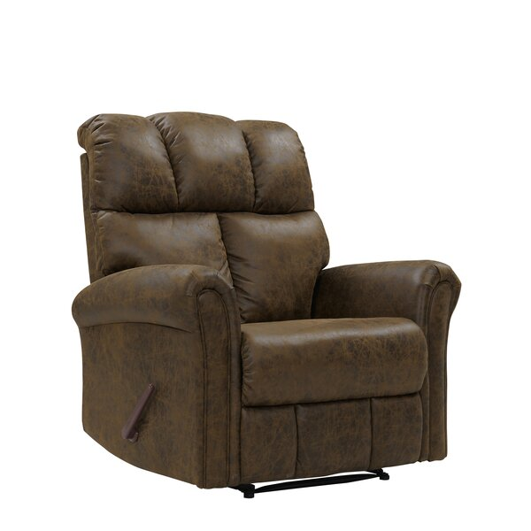 Kuester Biscuit Extra Large Manual Wall Hugger Recliner Red Barrel Studio W001859629