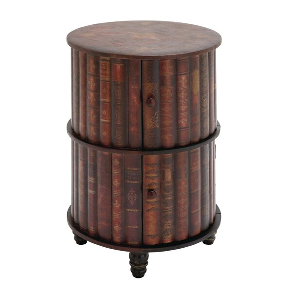 Advik Enchanting Wood/Leather 2 Door Accent Cabinet by World Menagerie