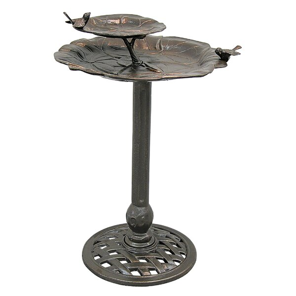 2-Tier Lily Pad Birdbath by Innova Hearth and Home