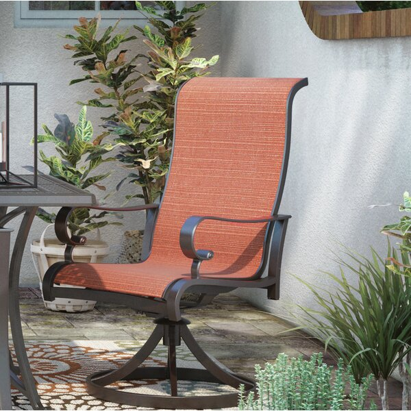 Barner Swivel Patio Dining Chair (Set of 2) by Bloomsbury Market