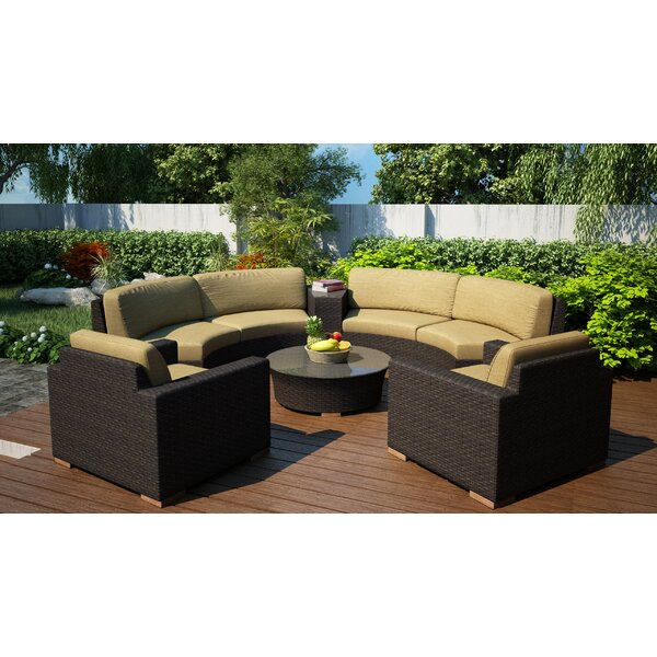 Hodge 6 Piece Curved Sectional Set With Cushions By Rosecliff Heights