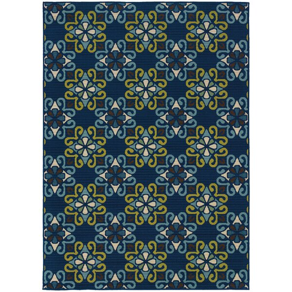 Mirari Blue/Green Indoor/Outdoor Area Rug by Winston Porter