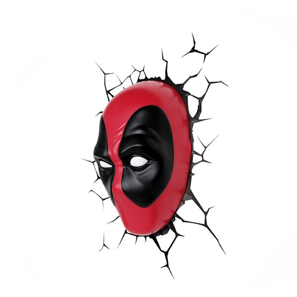3D Deadpool Deco 4-Light Night Light by 3D Light FX
