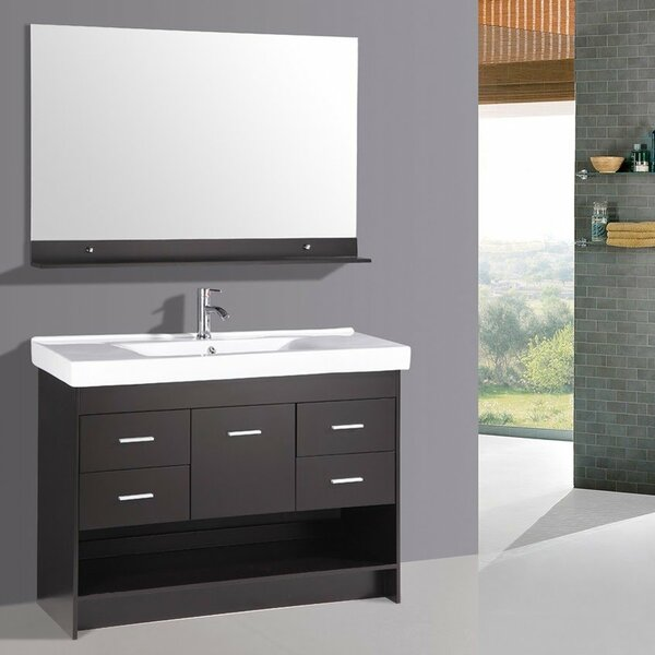 48 Single Bathroom Vanity Set with Mirror by Kokols