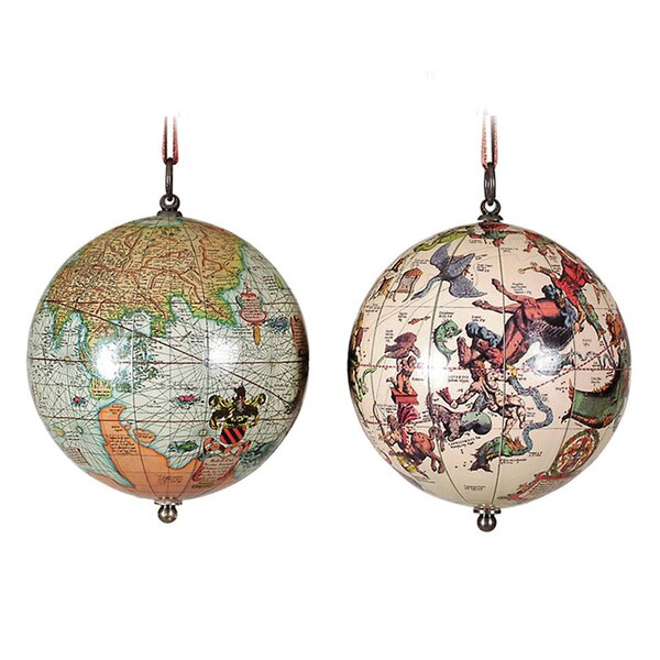 The Earth and the Heavens, 1551 AD Globe by Authentic Models