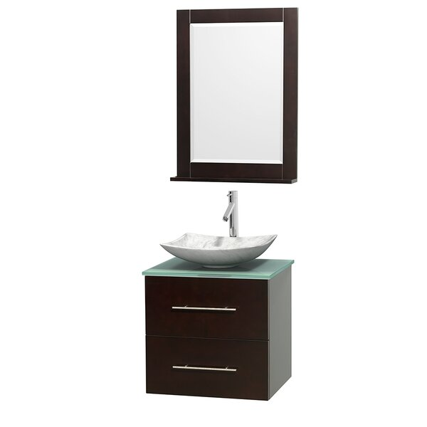 Centra 24 Single Espresso Bathroom Vanity Set with Mirror by Wyndham CollectionCentra 24 Single Espresso Bathroom Vanity Set with Mirror by Wyndham Collection