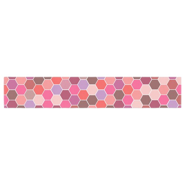 Nandita Singh Blush Tiled Table Runner by East Urban Home