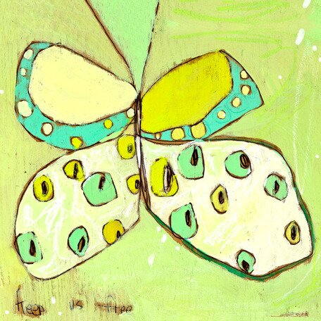 Snowfly Butterfly Canvas Art by Oopsy Daisy