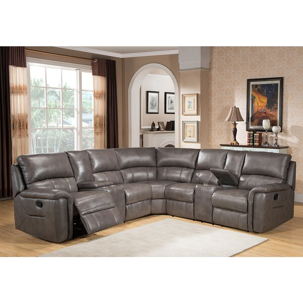Sacramento Leather Reclining Sectional by Amax