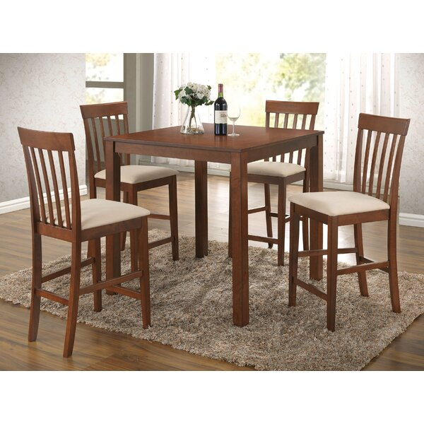 Hitchens Wooden 5 Piece Counter Height Dining Set by Red Barrel Studio