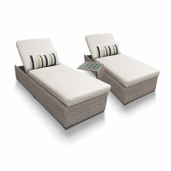 Rochford Sun Lounger Set with Cushion and Table (Set of 2) by Sol 72 Outdoor