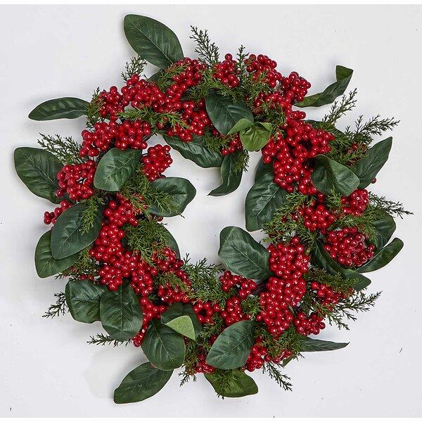 Berry Leaf 17 Styrofoam Wreath by The Holiday Aisle