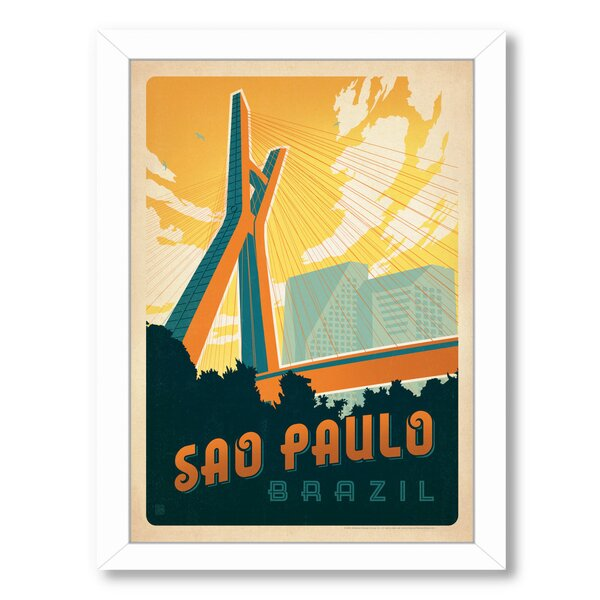 Sao Paolo Framed Vintage Advertisement by East Urban Home
