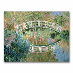The Japanese Bridge, Giverny by Claude Monet Painting Print on Canvas by Trademark Fine Art