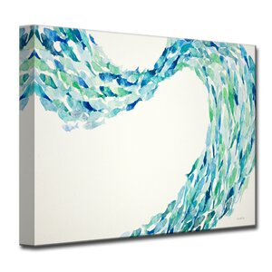 'Flow' by Norman Wyatt Jr. Painting Print on Wrapped Canvas by Ready2hangart