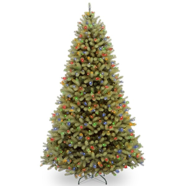 Downswept Douglas 9 Green Fir Artificial Hinged Christmas Tree with 900 LED Multi Lights and Stand by The Holiday Aisle