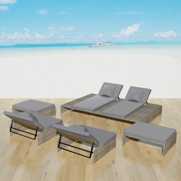Stocksbridge Outdoor 5 Piece Sofa Seating Group with Cushions by Ivy Bronx