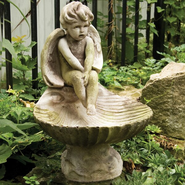 Meditating Birdbath by OrlandiStatuary