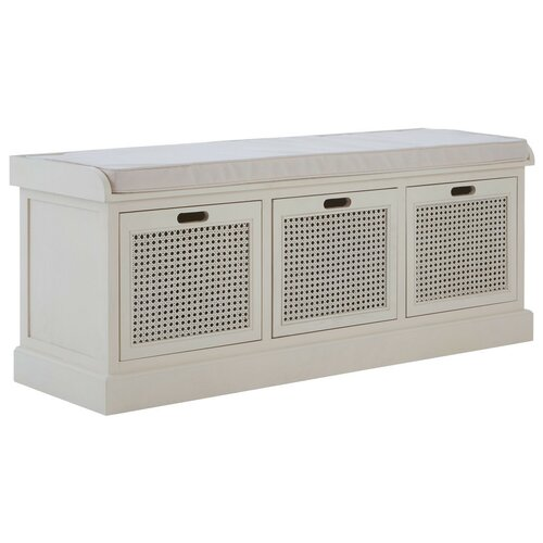 Ophelia Storage Bench Fernleaf Colour: White