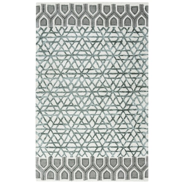 Chetumal Hand-Tufted Ivory/Gray Area Rug by Meridian Rugmakers