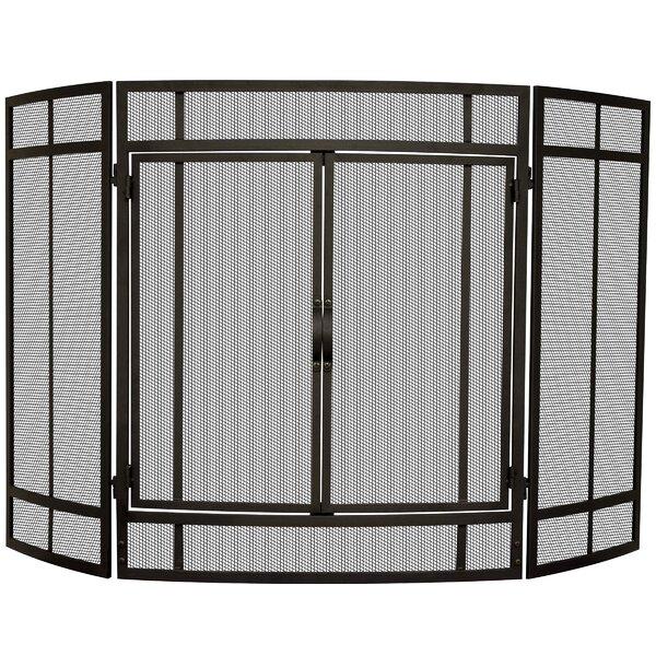 3 Panel Cabinet Steel Fireplace Screen By Uniflame