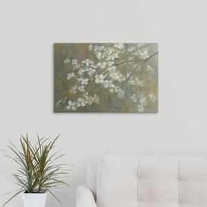 Dogwood in Spring by Danhui Nai Painting Print on Wrapped Canvas by Great Big Canvas