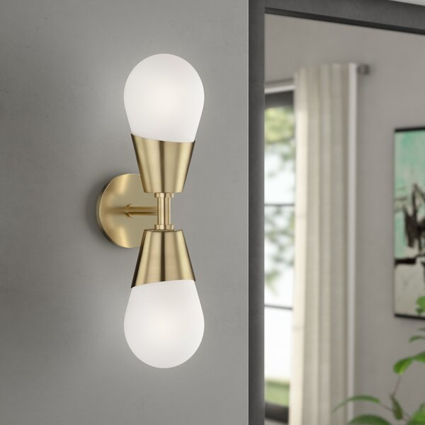 Cornell 2-Light Armed Wall Sconce by Corrigan Stud