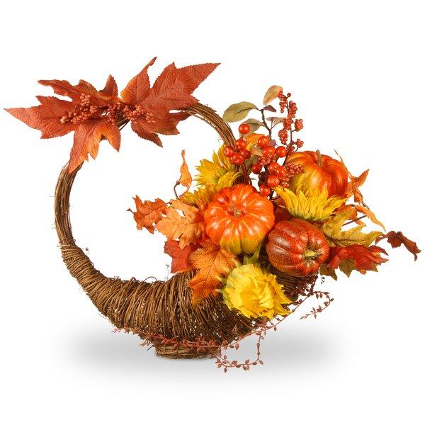 Harvest Autumn Cornucopia Basket by National Tree Co.