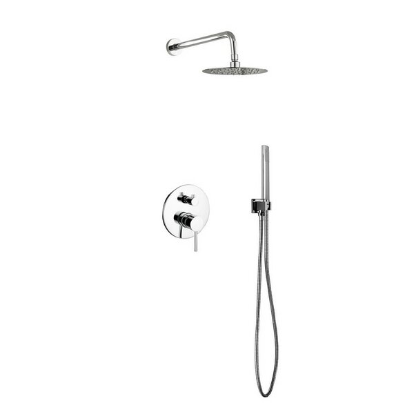 Bustillos Diverter Complete Shower System with Metal Round Handle - Includes Rough-In Valve by Rebrilliant