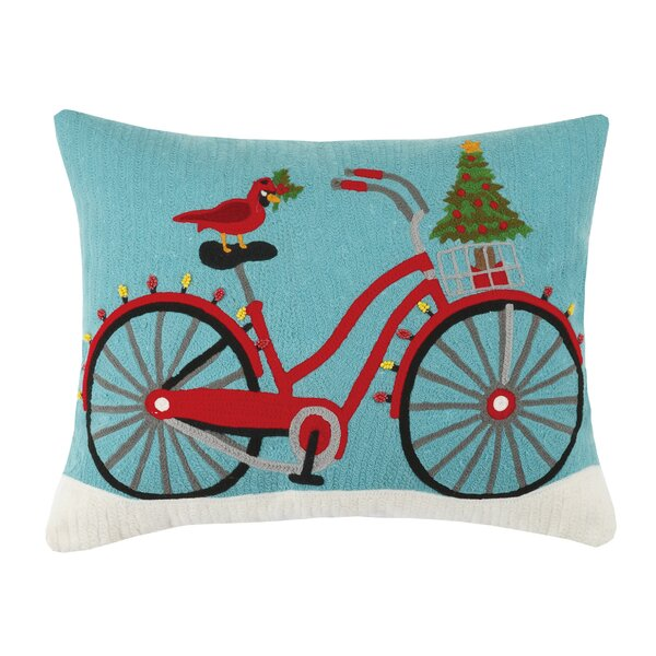 Holiday Embroidered Pillow by Peking Handicraft
