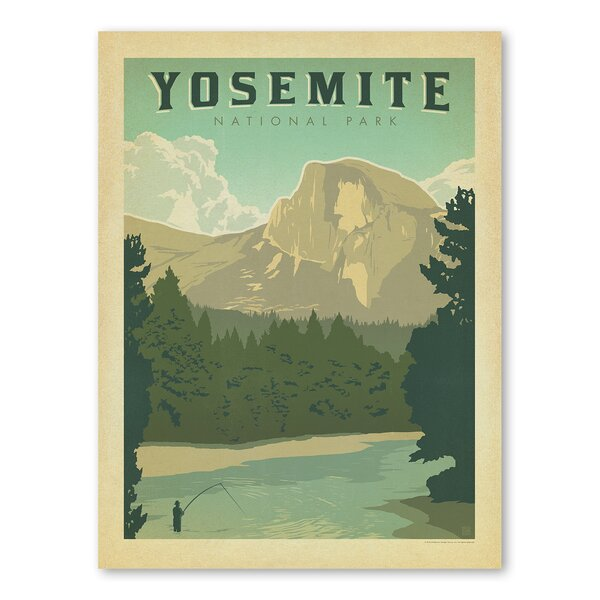 National Park Yosemite Vintage Advertisement by Americanflat