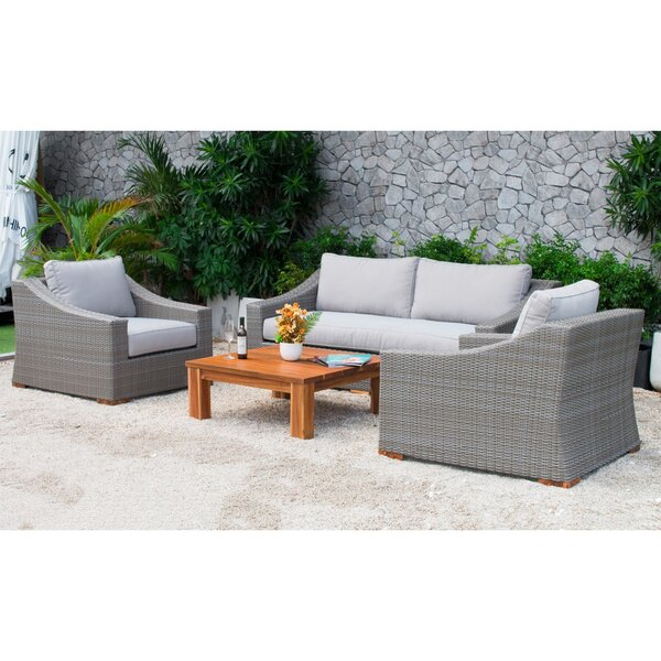 Branford 4 Piece Sofa Set with Cushions by Latitude Run