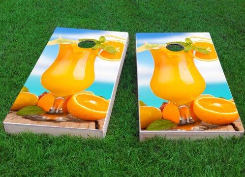 Orange Drink Cornhole Game (Set of 2) by Custom Cornhole Boards