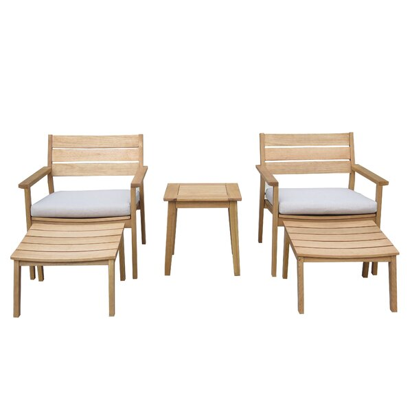 Luthersville Conversation 5 Piece Seating Group with Cushions by Rosecliff Heights