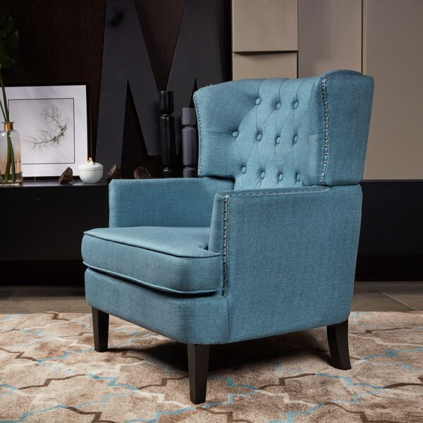 Gustavo Wingback Chair by Alcott Hill