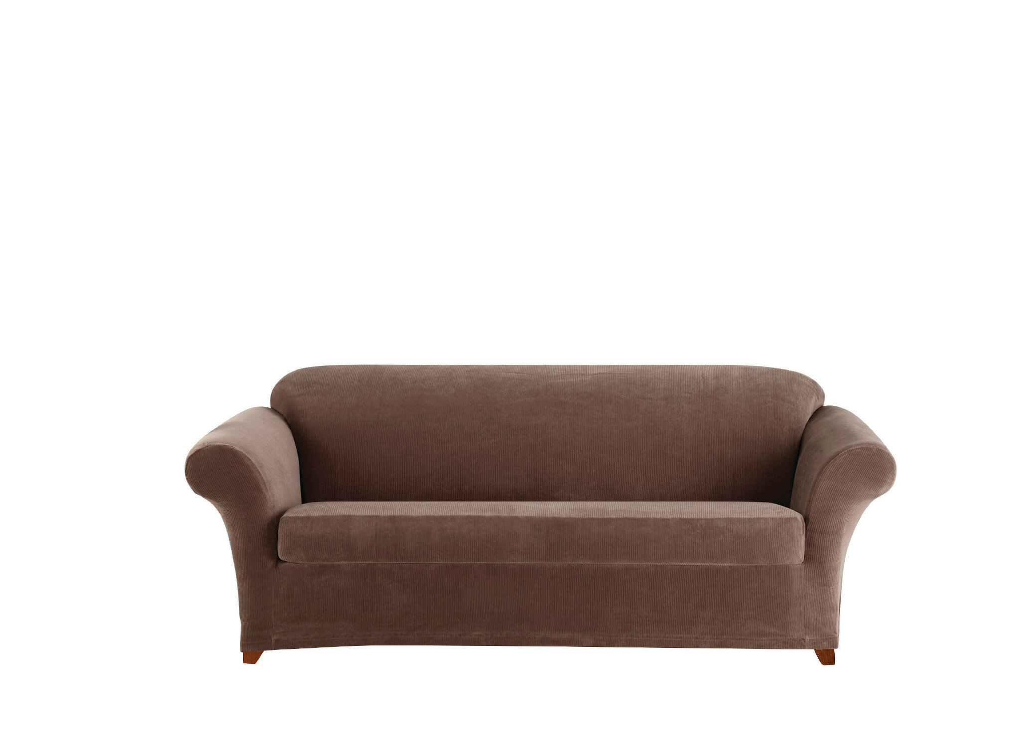 Sure Fit Stretch Corduroy Box Cushion Sofa Slipcover | Wayfair