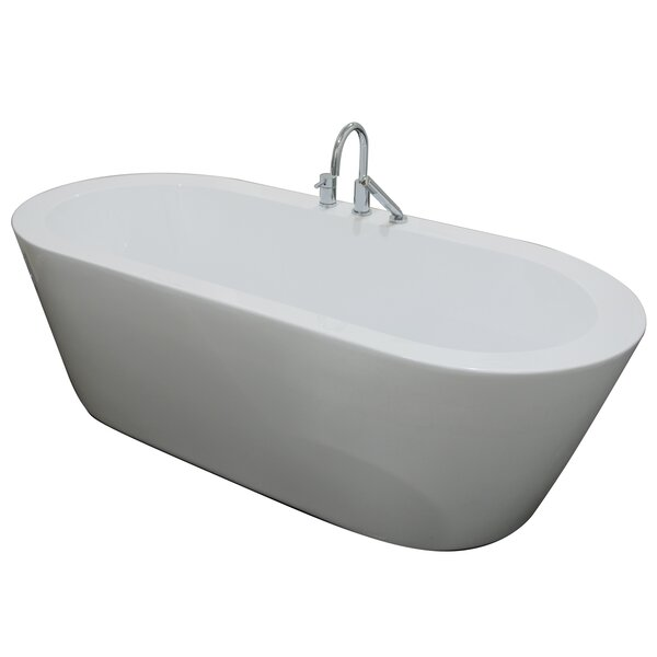 Una 71 x 24 Freestanding Soaking Bathtub by A&E Bath and Shower