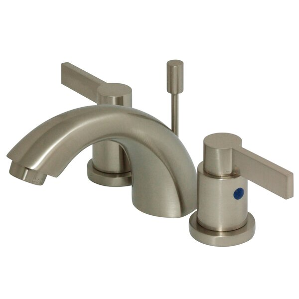 NuvoFusion Widespread faucet Bathroom Faucet with Drain Assembly by Kingston Brass