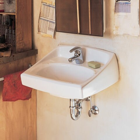 Lucerne Ceramic 21 Wall Mount Bathroom Sink by Ame