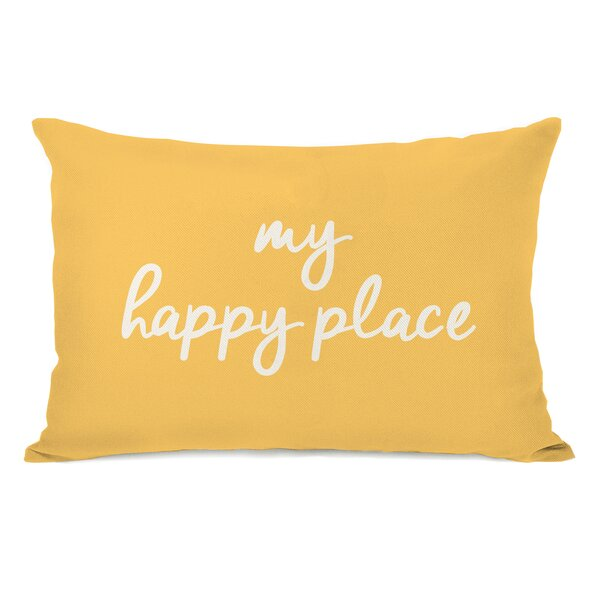 Peltz My Happy Place Outdoor Lumbar Pillow by Ebern Designs
