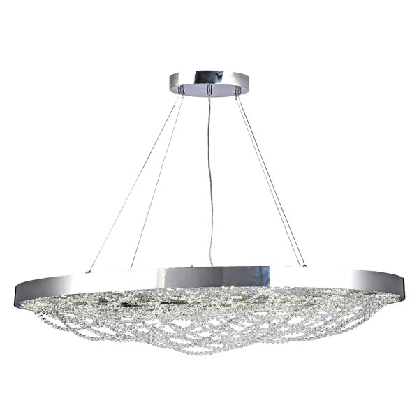 Mcquade 24-Light LED Crystal Chandelier by House of Hampton