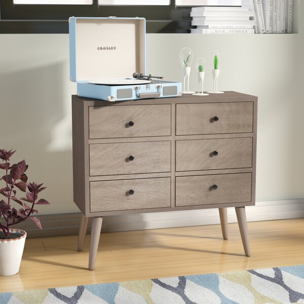 Grant 6 Drawer Wood Accent Chest by Langley Street