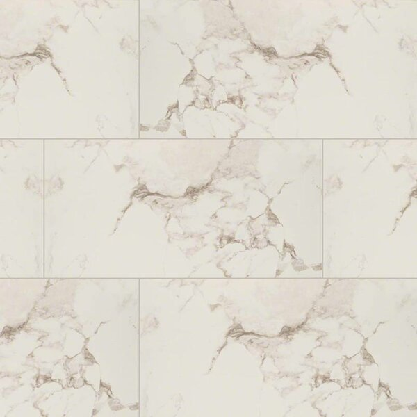 Pietra Statuario 12 x 24 Porcelain Field Tile in White by MSI