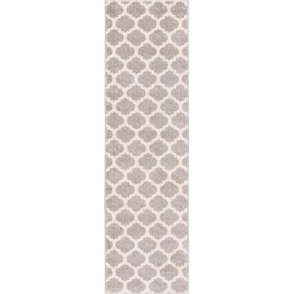 Broxton Modern Trellis Gray Area Rug by Wrought Studio