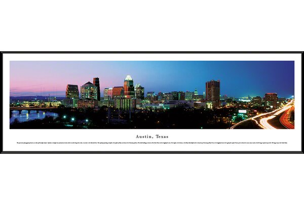 US Skyline Austin, Texas by Christopher Gjevre Framed Photographic Print by Blakeway Worldwide Panoramas, Inc