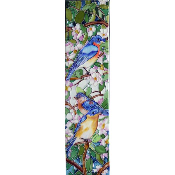 Blue Birds Tile Wall Decor by Continental Art Center