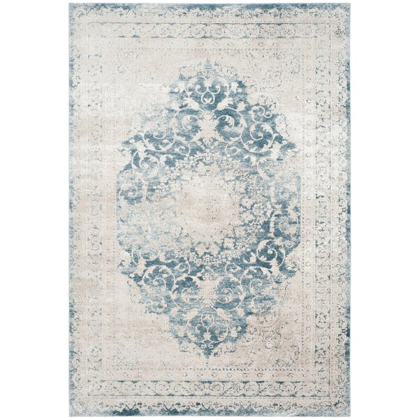 Prager Blue/Beige Area Rug by One Allium Way