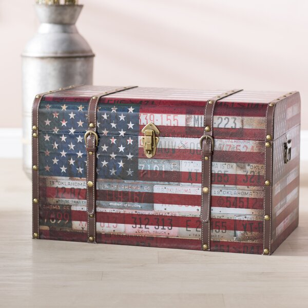 Sumner Americana Decorative Home Storage Trunk by