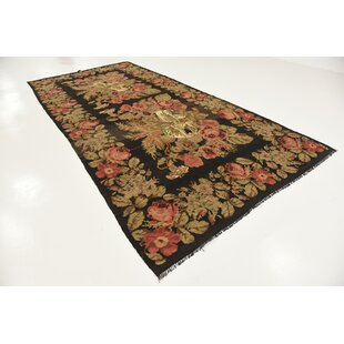 One Of A Kind Chloé Hand Knotted Runner 6 2 X 13 7 Wool Green Orange Area Rug