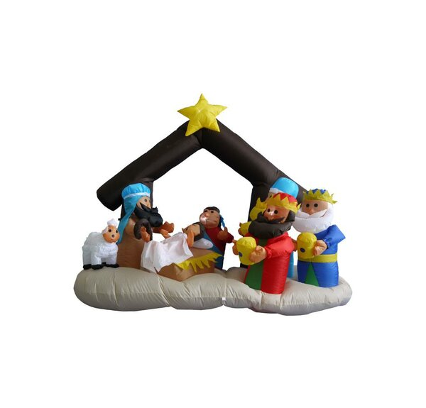 6 ft. Long Nativity Scene Decoration by The Holida